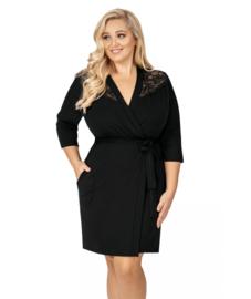 Donna- Tess plus- kamerjas- grote maten- zwart