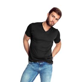 Mewa- T-shirt- Caro- vegan zijde- zwart