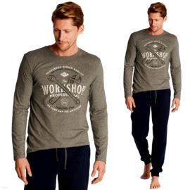 Henderson-heren pyjama- grijs/marineblauw