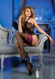 Studio Collants erotische kousen zwart / paars