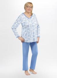 Martel Anastazja - dames lange pyjama- blauw- Hoogwaardige kwaliteit !!!