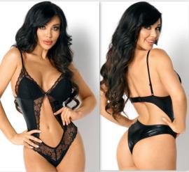 Lauren zwarte teddy van Beauty Night- nieuwe collectie