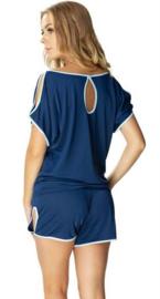Mewa- Agata pyjama- donkerblauw