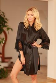 Kalimo Marbella hoogwardige satijn kimono zwart
