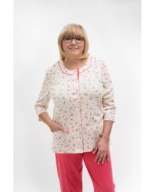 Martel Maria dames pyjama 100% katoen  creme/roze