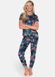 Esotiq- Delight- pyjama- bloemen thema- blauw