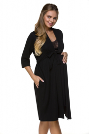 Lupoline Zwangerschaps Badjas / Kamerjas - zwart