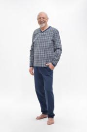 Martel- Roman pyjama- blauw/grijs 100% katoen