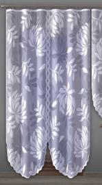 Wisan Malta Gordijn Jacquard wit, geen plooiband, 200 x 250 cm
