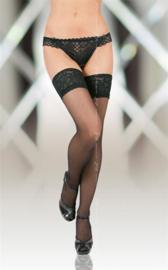 Softline Collection - Elegante hold-up kousen met kanten rand - zwart