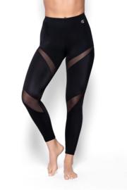 Eldar Alana vermagering leggings met doorzichtige inzetstukken zwart
