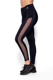 Eldar- Alma- vermagering leggings met doorzichtige inzetstukken zwart