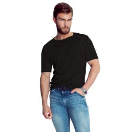 Mewa- T-shirt- Sprint- vegan zijde- zwart