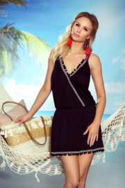 Eldar Jessica dames jurk strandtuniek zwart