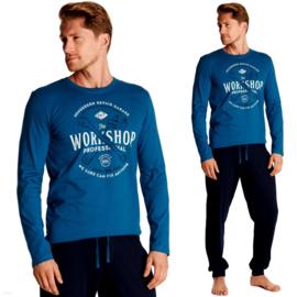 Henderson- Owner -heren pyjama- blauw- 100% katoen