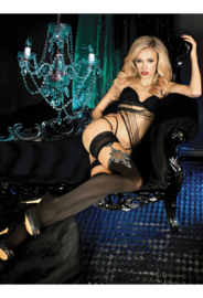 Studio Collants EROTISCHE HOLD-UP KOUSEN 20 den zwart