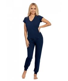 Donna - Lena- pyjama- marineblauw