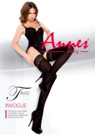 Annes Truss sensuele hold-up kousen met kanten rant - 60 den zwart