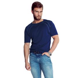 Mewa- T-shirt- Sprint- vegan zijde- donkerblauw