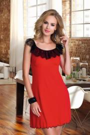 Eldar- Elisa- mooie slipdress met kant- rood/zwart