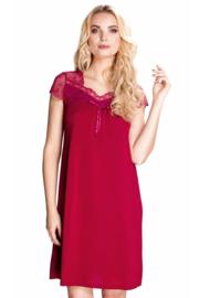 Mewa Dolce Vino nachthemd - vegan zijde - bordeau rood