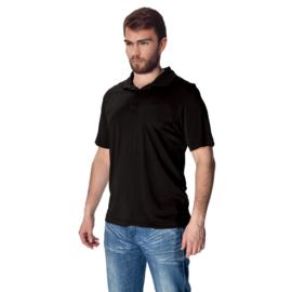 Mewa- Poloshirt vegan zijde- zwart