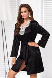 Irall Alexandra satijn kimono zwart