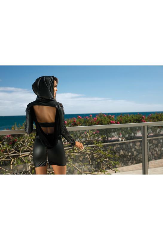 Axami Hoodie vest met capuchon zwart