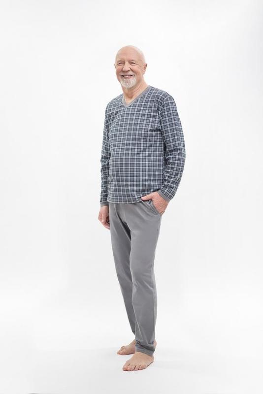 Martel Roman pyjama grijs 100% katoen