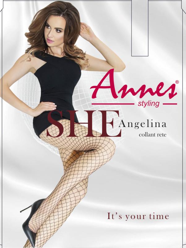 Annes Angelina erotische visnet pantys zwart