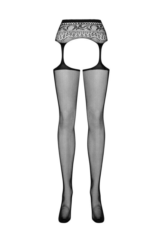 Obsessive  panty met open kruis en jarretels