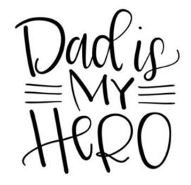 'Dad is my hero' Strijkapplicatie