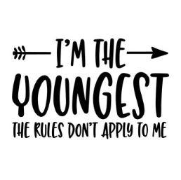 'I'm the youngest' Strijkapplicatie