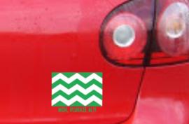 (auto)sticker Westlandse vlag Helemaal goud