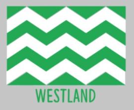(auto)sticker Westlandse vlag Westland