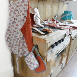 (kinder) Keuken schort 'zelf samen stellen'