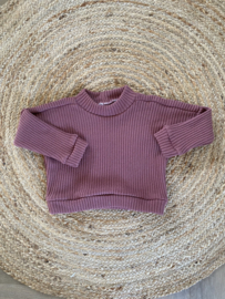 Oversized sweater old pink