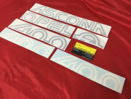 Stickerset, Aufklebersatz,  Opel Ascona 400