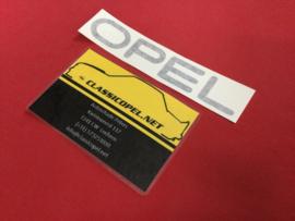 """Sticker """"Opel"""" voor de achterklep Opel Kadett C GT/E."""