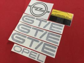 Sticker set voor de  Opel Kadett C2 GT/E.