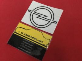 "Sticker ""Opel logo"" voor de achterklep Opel Kadett C1 GT/E."