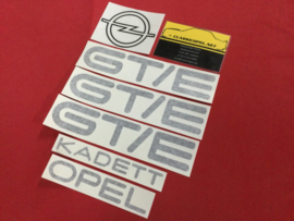 Sticker set voor de  Opel Kadett C1 GT/E