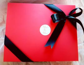 Geschenkdoos met deksel hot pink