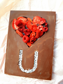 i love you (vegan) chocolate bar