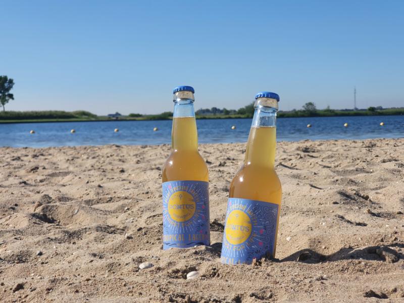 Pontus Brewing - Beach Boy   Tropical lager 4,7% (vanaf 6 flessen)