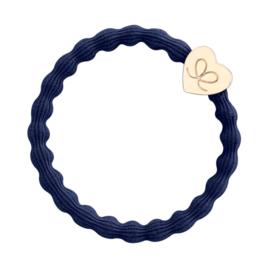 ByEloise Gold Heart Navy Blue