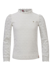 LOOXS LITTLE - BLOUSE JAQUARD OFFWHITE