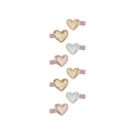 Mini heart Clips
