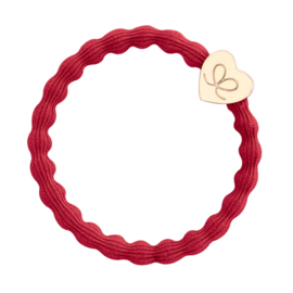 ByEloise Gold Heart Cherry Red