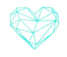 Geometrisch hart   muursticker